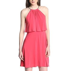 Jessica Simpson Coral Halter Popover Dress Medium